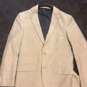 38R Haggar Lightweight Blazer Checked Gray/White